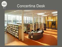 Library Reference Desk Concertina Desk System The Modern Library Circulation Reference Coun U2026