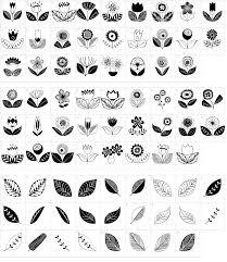 doodle dings 2 retro flowers font download