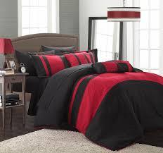 Zebra And Red Bedroom Set Amazon Com Chic Home 10 Piece Fiesta Bed In A Bag Comforter Set