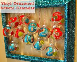 vinyl ornament advent calendar glam