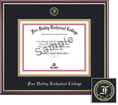 tech diploma frame fox valley technical college bookstore framing success academic