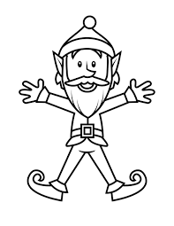 printable elf coloring pages coloringstar