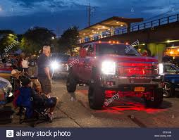 lifted gmc 2015 new york usa 12th june 2015 people watch as a custom gmc dually