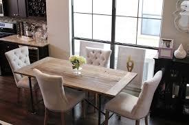 restoration hardware flatiron table dining room updates almost done veronika s blushing