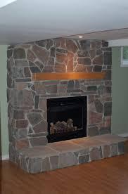 diy faux rock fireplace home design ideas