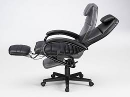 executive ergonomic reclining office chair with footrest for back