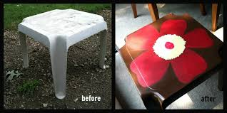 Plastic Outdoor Side Table Roadside Redo Outdoor Flower Table Laughing Abi