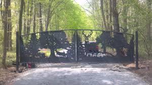 driveway gates designs deer gates metal art entrance gates