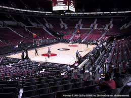 moda center section 105 seat views seatgeek