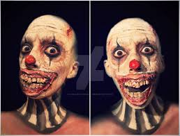 evil clown makeup fx by camilacostaart special effects makeup