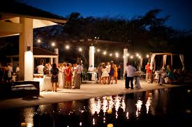 pool side reception u2013 weddings costa rica