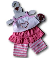 teddy clothes clothes pink floral heart