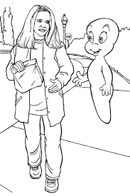 casper u0027s scare coloring pages