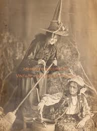 vintage halloween photograph witches brew early 1900s antique
