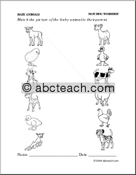 13 best images of mother and baby animals worksheets mother and