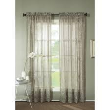 dkny halo rod pocket sheer window curtain panel in white walmart