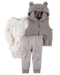 Top Conjunto Calça, Body, Casaco Fleece Soft Carters Menino - R$ 119  #NC76