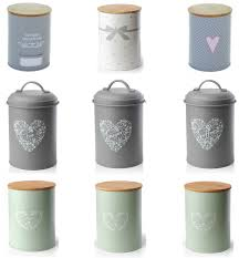 set 3 vintage shabby chic tea coffee sugar kitchen storage jars