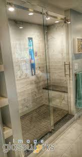 shower frameless shower doors swinging hinged beautiful