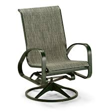 High Back Sling Patio Chairs by Belham Living Winston Savoy Sling Swivel Tilt Chat Chair Hayneedle