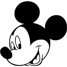 mickey mouse black white face free download clip art free