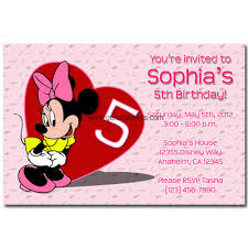 minnie mouse birthday invitations printable eysachsephoto com