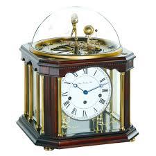 Mantel Clocks Antique Hermle Tellurium Iii Mechanical Mantel Clock Antique Walnut Finish