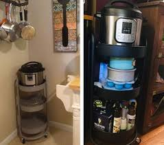 kitchen cabinet organizer shelf white made by designtm this 30 target cart is being called the instant pot home