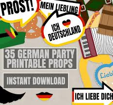 photo booth party props 35 x german photobooth party props printables pixels and pine