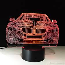 dobe 3d illusion night light bmw m luxury car lamp birthday