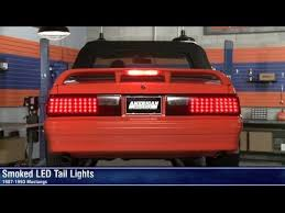 fox body tail lights smoked led tail lights 87 93 all review