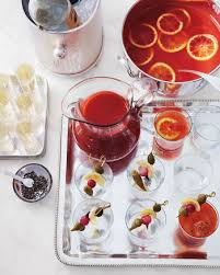 thanksgiving cocktail and drink recipes martha stewart