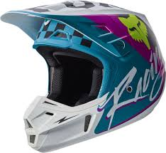 fox motocross helmets 2017 fox v2 rohr motocross helmet teal 1stmx co uk