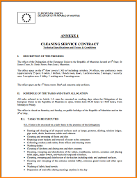 8 cleaning contract templates paradochart