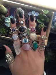 vintage crystal rings images Jewels ring ring hippie colorful plants vintage sun eye jpg