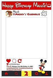 mickey mouse photo booth props mickey mouse selfie frame social media frame photo