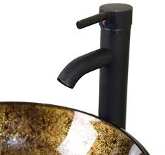 Brushed Bronze Faucets Bathroom Artistic Glass Vessel Sink Oil Rubbed Bronze Faucet Pop