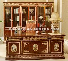 Luxury Woodenbronze Classical French Office Furniture SetMoq - Luxury office furniture