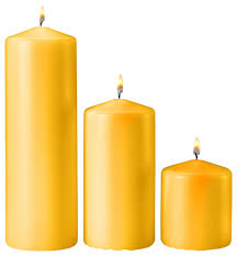 yellow citronella scented pillar candles set of 3 traditional