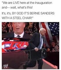 Meme Chair - bernie sanders steel chair inauguration of donald trump know