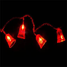 5 m led bell lighting strings tree garland curtain lights