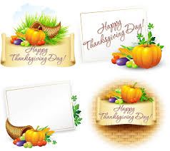 happy thanksgiving day vector cards 2013 vector graphics