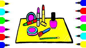comestics u0026 make up tool coloring pages for girls drawing for