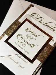 layered wedding invitations gold glitter and white wedding invitation wedding