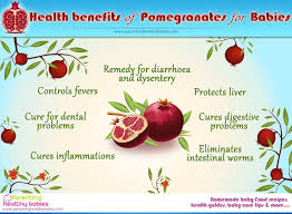 health benefits of pomegranate for babies