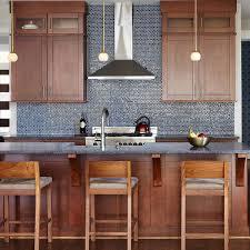kitchen backsplash tile ideas with wood cabinets 75 blue backsplash ideas navy aqua royal or coastal