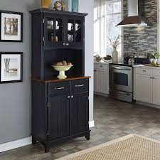 trendy design ideas black kitchen hutch wood hutches and buffets