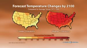 National Temperature Map Forecast Temperature Changes By 2100 Climate Central