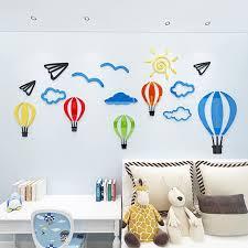 heißluftballon kinderzimmer bunten heißluftballon acryl dekorationen angepasst aufkleber für