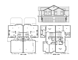 2 Story Duplex Floor Plans Duplex Plans Siex